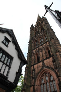 The old St. Michael's Cathedral of Coventry which was bombed in WW2 and the one of the unique buildings (Courtsey goes to Yuliya)